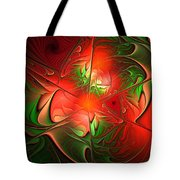 Eruption - Abstract Art Tote Bag
