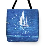 Escorted By Seagulls Tote Bag