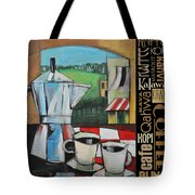 Espresso Coffee Languages Poster Tote Bag