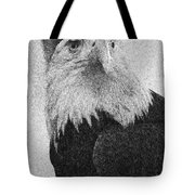 Etched Eagle Tote Bag