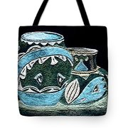 Etched Pottery Tote Bag