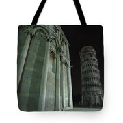 Ethereal Moonlight Scene Of Duomo Santa Tote Bag by Carson Ganci