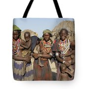 Ethiopia-south Three Moms And Their Kiddos Tote Bag