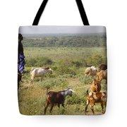 Ethiopia-south Tribal Goat Herder Tote Bag