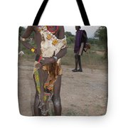 Ethiopia-south Tribesman Boy No.3 Tote Bag