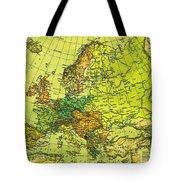 Europe Map Of 1911 Tote Bag
