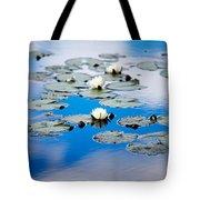 European White Waterlily Tote Bag