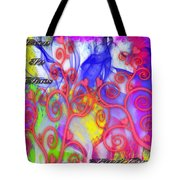 Even In Chaos Find Love Tote Bag