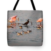 Evening Activity In The Bay Tote Bag