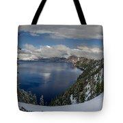 Evening At Crater Lake Panorama Tote Bag