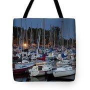 Evening At The Marina Tote Bag
