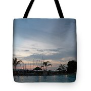 Evening At The Pool Tote Bag