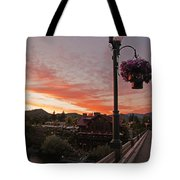 Evening Color Over Taprock Tote Bag
