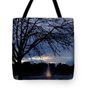 Evening Falls On Youth's Fountain Tote Bag