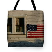 Evening Light On An American Flag Tote Bag