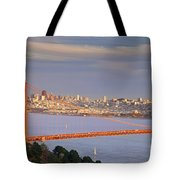 Evening Over San Francisco Tote Bag