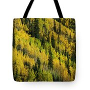 Evergreen And Quaking Aspen Trees Tote Bag