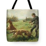 Exercising Greyhounds Tote Bag