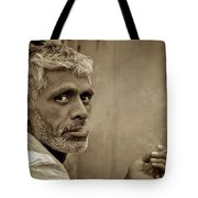 Exhaling In Lucknow Tote Bag