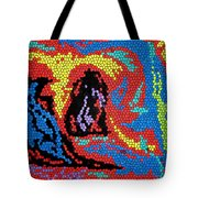 Exploding Duck Tote Bag