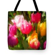 Expressionistic Spring Tulip Explosion Tote Bag