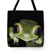 Extreme Head-on Close-up Of A Green Tote Bag