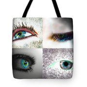 Eye Art Collage Tote Bag