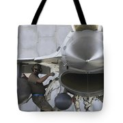 F-16 Fighting Falcon Is Ready To Head Tote Bag