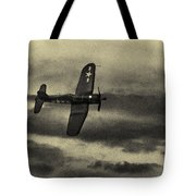 F4u Corsair In Sepia Tote Bag