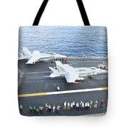 Fa-18 Aircraft Prepare To Take Tote Bag