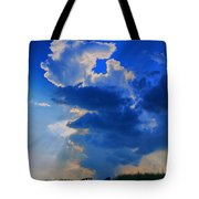 Face In The Cloud Tote Bag