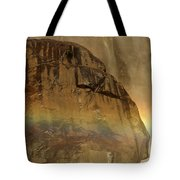 Face In The Rainbow Tote Bag