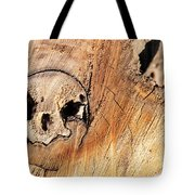 Face In The Wood Tote Bag