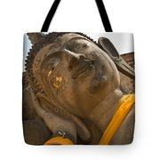 Face Of A Reclining Buddha Tote Bag