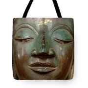 Face Of Bronze Buddha  Tote Bag