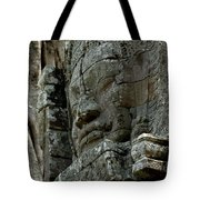 Face Of Stone Tote Bag