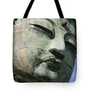 Face Of The Daibutsu Or Great Buddha Tote Bag