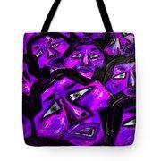 Faces - Purple Tote Bag