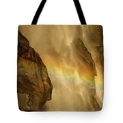 Faces In The Falls Tote Bag