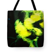 Faces In The Green Tote Bag