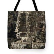 Faces Of Banyon Angkor Wat Cambodia Tote Bag