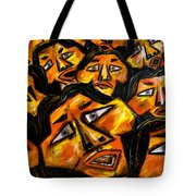 Faces Yellow Tote Bag