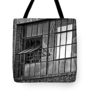 Factory Air In New Orleans In Black And White Tote Bag