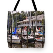 Fairhope Yacht Club Sailboat Masts Tote Bag