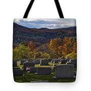 Fairview Cemetery In Autumn Tote Bag