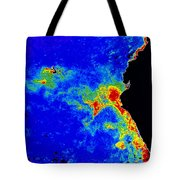 Fal-col Satellite Image Of Coastal Tote Bag by Dr. Gene Feldman, NASA Goddard Space Flight Center