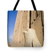 Falcon Statue At Edfu Tote Bag by Darcy Michaelchuk