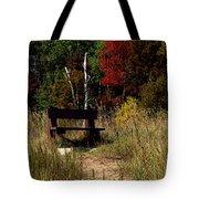 Fall Bench Dreams Tote Bag