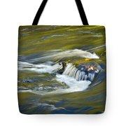 Fall Colors In River Rapids Tote Bag