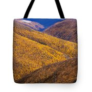 Fall Colours Along Top Of The World Tote Bag
